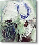 Colts Player Helmet Abstract Metal Print