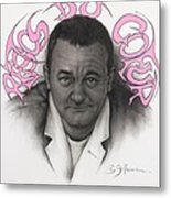 Coluche Metal Print by Guillaume Bruno
