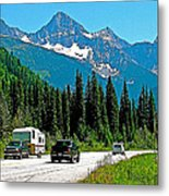 Columbia Mountains In Glacier Np-british Columbia Metal Print