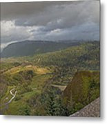 Columbia River Gorge View From Crown Point Metal Print