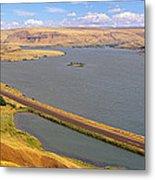 Columbia River In Oregon, Viewed Metal Print