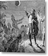 Columbus And The Lunar Eclipse, 1504 Metal Print