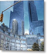 New York - Columbus Circle - Time Warner Center Metal Print