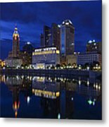 Columbus City At Twlight Metal Print by Dick Wood