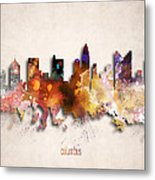 Columbus Painted City Skyline Metal Print