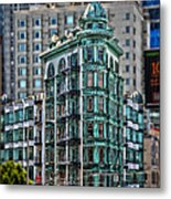 Columbus Tower In San Francisco Metal Print