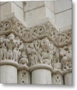 Column Relief Abbey Fontevraud  Metal Print