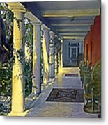 Columns And Chairs Metal Print