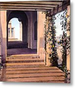 Columns And Flowers Metal Print by Terry Reynoldson