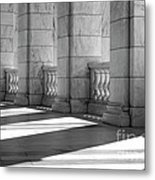 Columns And Shadows Metal Print
