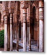 Columns Of The Court Of The Lions Metal Print