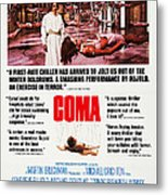 Coma, Left Genevieve Bujold On Poster Metal Print