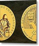 Comanche Nation Tribe Code Talkers Bronze Medal Art  Metal Print