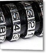 Combination Lock Macro Metal Print