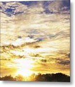 Combine At Sunset Metal Print