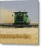 Combine Working A Field On The Metal Print