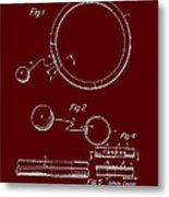Combined Hoop And Tethered Ball Toy Patent 1967 Metal Print