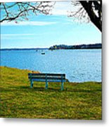Come Sit Metal Print