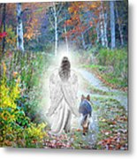 Come Walk With Me Metal Print by Sue Long