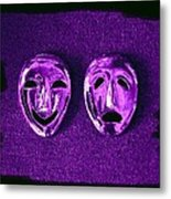 Comedy And Tragedy Masks 2 Metal Print