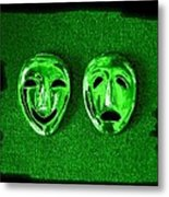 Comedy And Tragedy Masks 3 Metal Print