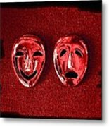 Comedy And Tragedy Masks 4 Metal Print