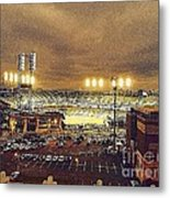 Comerica Night Game 2 Metal Print