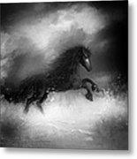 Comes A Dark Horse Metal Print by Hazel Billingsley