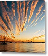 Comet Sunset Metal Print