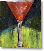 Comfortable Cherry Martini Metal Print