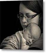 Comforting Shoulder Metal Print
