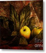 Comfy Apples Metal Print