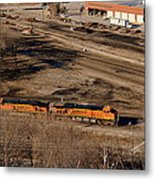 Coming From The Train Yard Metal Print