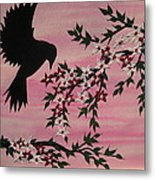 Coming Home To Roost Metal Print by Cathy Jacobs