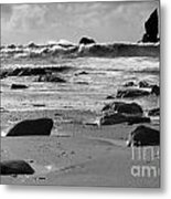 Coming In Waves Metal Print