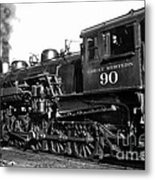Coming Out Of The Engine Shed Metal Print