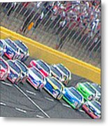 Coming Out Of Turn 4 Metal Print