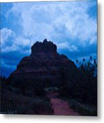Coming Storm Bell Rock Metal Print