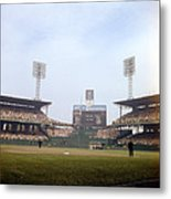 Comiskey Park Photo From The Outfield Metal Print