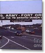 Fort Ord  Commander  Major General Marvin L. Covault  7th Infantry Division 1992 Metal Print