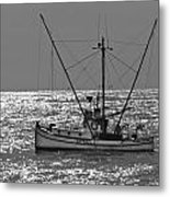 Commercial Fishing Boat Dickey Byrd Out Of Half Moon Bay Metal Print