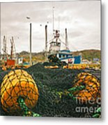 Commercial Fishing In The North Atlantic Metal Print