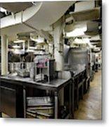 Commercial Kitchen Aboard Battleship Metal Print