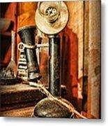 Communication - Candlestick Phone Metal Print