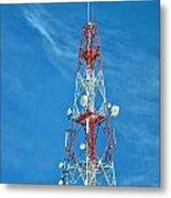 Communications Mast Hua Hin Metal Print