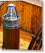 Compass And Bright Work Old Sailboat Metal Print