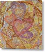Compassion 7 Hearts Metal Print