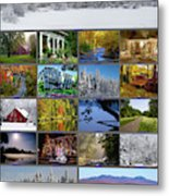 Composite Of Photographs From Various Metal Print