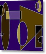Composition In Browns And Blues Metal Print