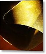 Composition In Gold Metal Print